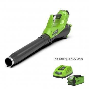 Foto - Soffiatore a batteria G40AB con Kit Energia 40V 2Ah Greenworks